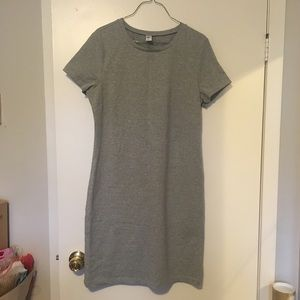 BNWT Fitted Crew-Neck Tee Dress in Grey